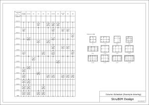 struBIM Design. Cuadro de pilares